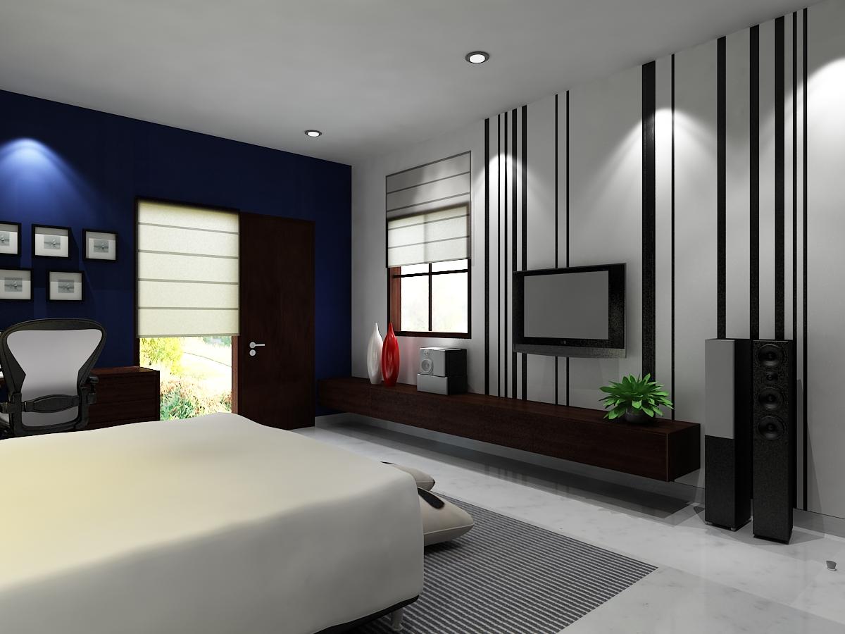 Kamar tidur minimalis modern - Small house interior paint ideas ...