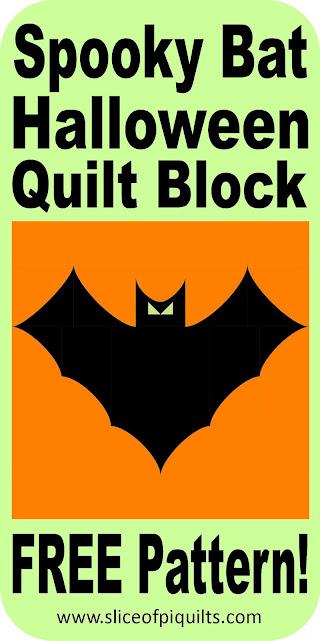 FREE spooky bat quilt block