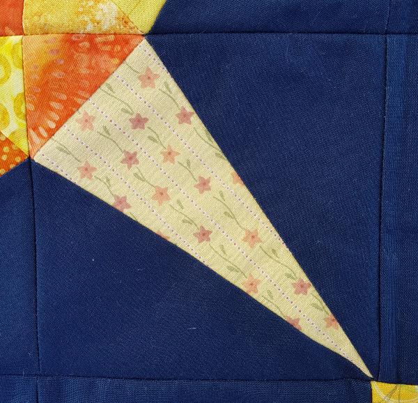 Burst mini quilt | DevotedQuilter.com