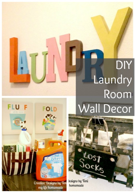 Diy Laundry Room Wall Decor My Life Homemade