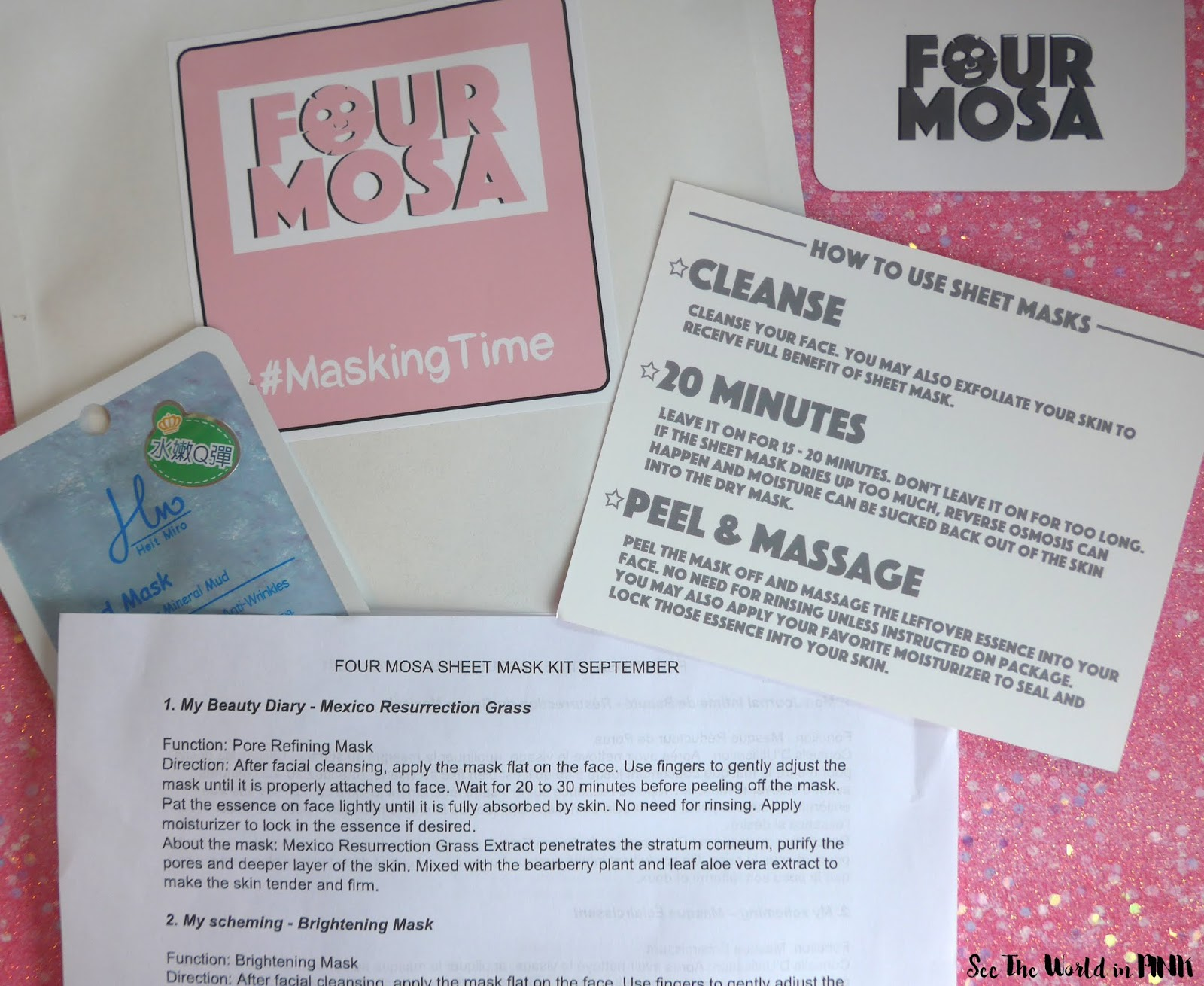 September 2019 - Four Mosa Sheet Mask Kit Subscription