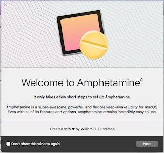 Amphetamine 起動画面