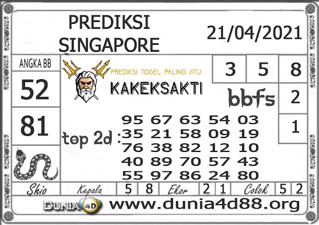 Prediksi Togel SINGAPORE DUNIA4D 21 APRIL 2021