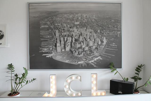 New York Motiv Pixers Ecke Wohnzimmer vorher Jules kleines Freudenhaus