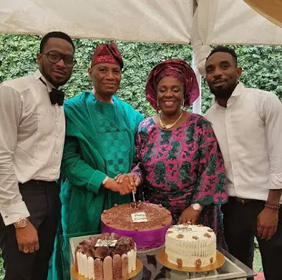 D'Banj And Kayswitch Celebrate Their dad birthday in style