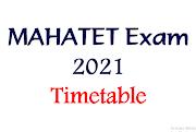 MAHATET EXAM 2021 timetable