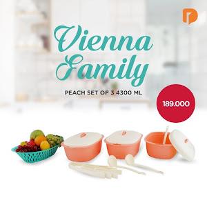 Vienna Family Peach Set 4300 ML (Set of 3)