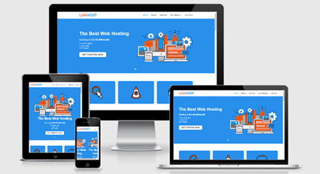 Template blogspot Landing Page Service Lanhost free download