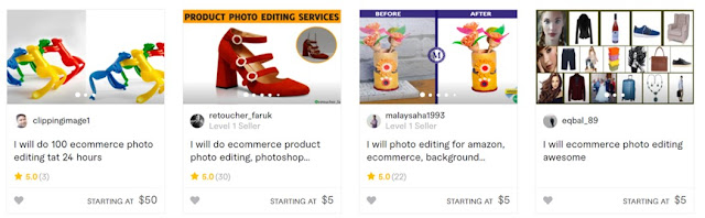 best photo editing fiverr gigs for ecommerce products