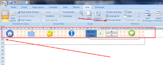 Freese Panes Pada Excel