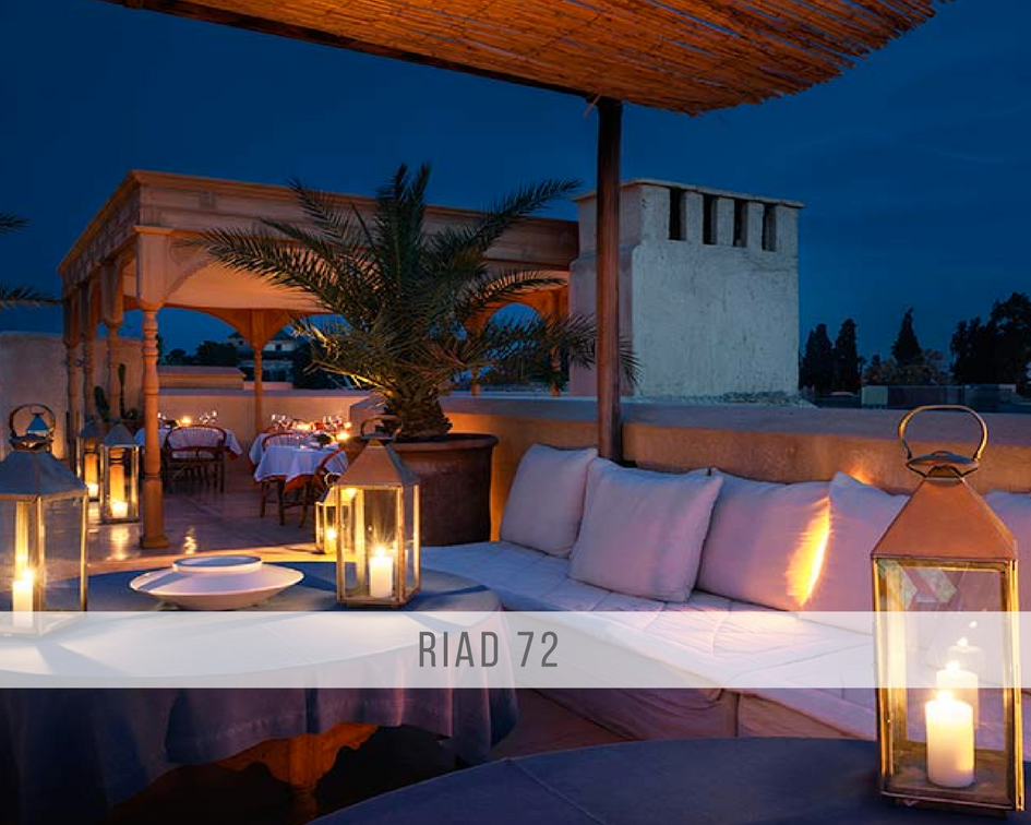 The rooftop of Riad 72