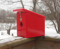 new apple red easy cleanout hanging bird house handmade?ref=shop_home_active_4