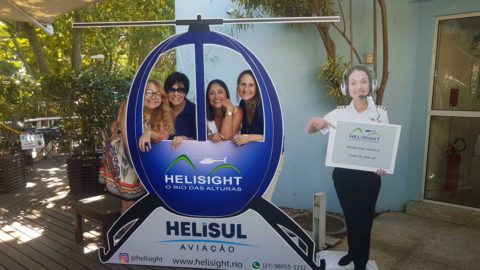 Heliponto da Helisight na Lagoa Rodrigo de Freitas,RJ.