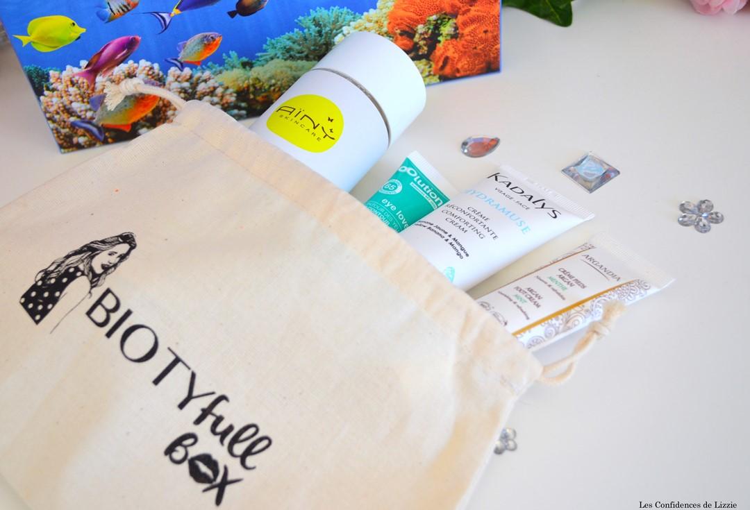 Biotyfull box - box beauté - box beauté bio - bio - cosmétiques bio - soin du visage bio - crème hydratante bio - naturel - soin naturel - crème pour les pieds bio - soin contour des yeux bio