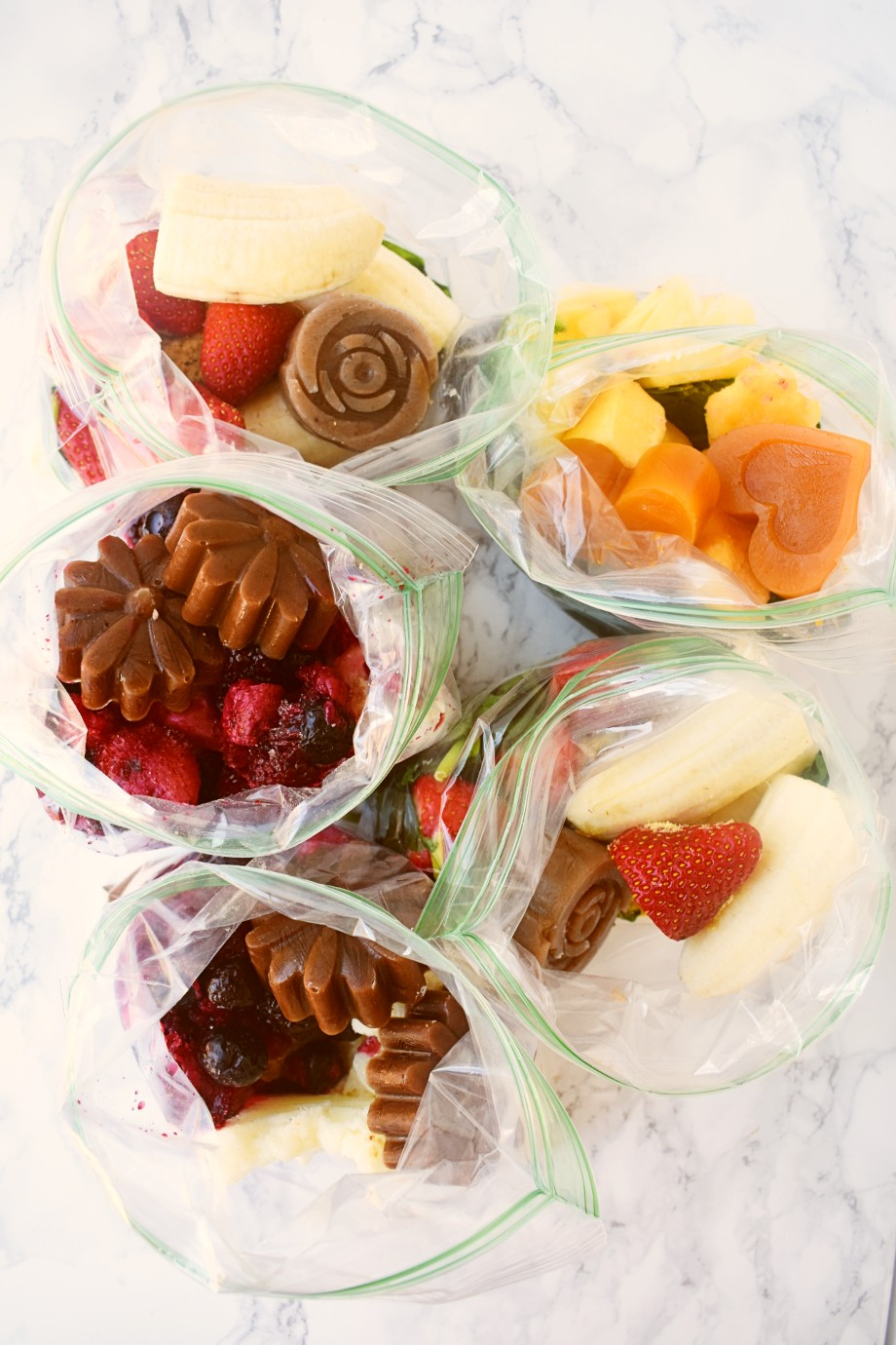 Fruit and Vegetable Smoothie Packs