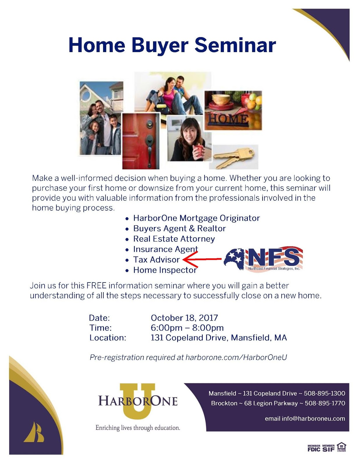 Northeast Financial Strategies Inc Wrentham MA Tax Accounting - First time home buyer flyer template
