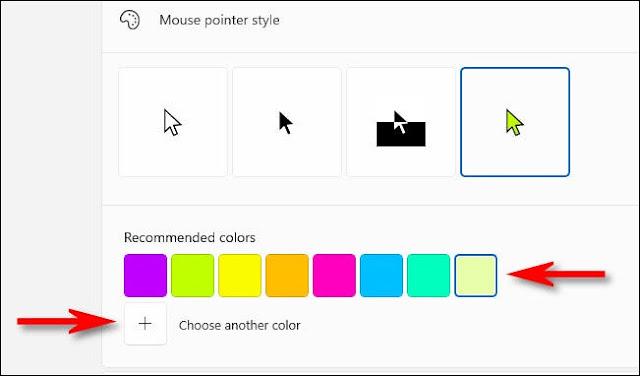 كيفية تغيير لون مؤشر الماوس في ويندوز 11