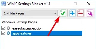 إخفاء الإعدادات الصفحة 04 حفظ التغييرات في التطبيق