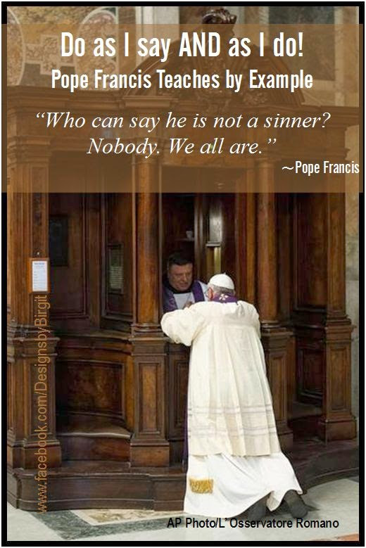 Leading by Example - Pope Francis Goes to Confession