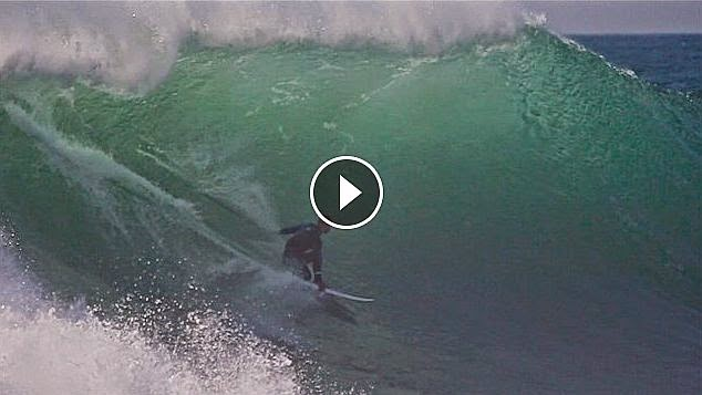 Kelly Slater Alone in Nazare