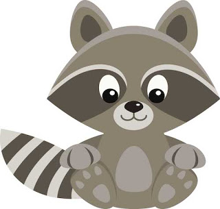 Free Raccoon clipart by GradeONEderfulDesigns.com
