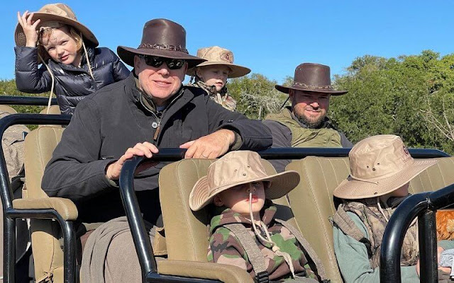 Prince Albert, Crown Prince Jacques and Princess Gabriella got together with Princess Charlene in South Africa