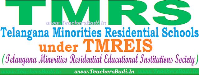 TMRS,TMREIS,Telangana Minority Residential Schools