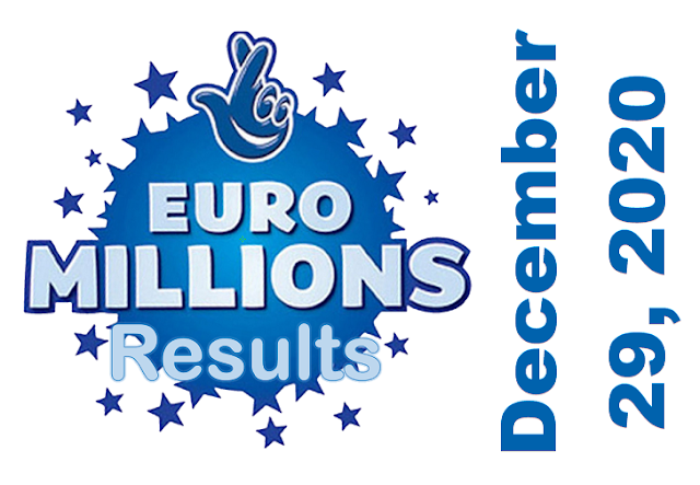 EuroMillions Results for Tuesday, December 29, 2020