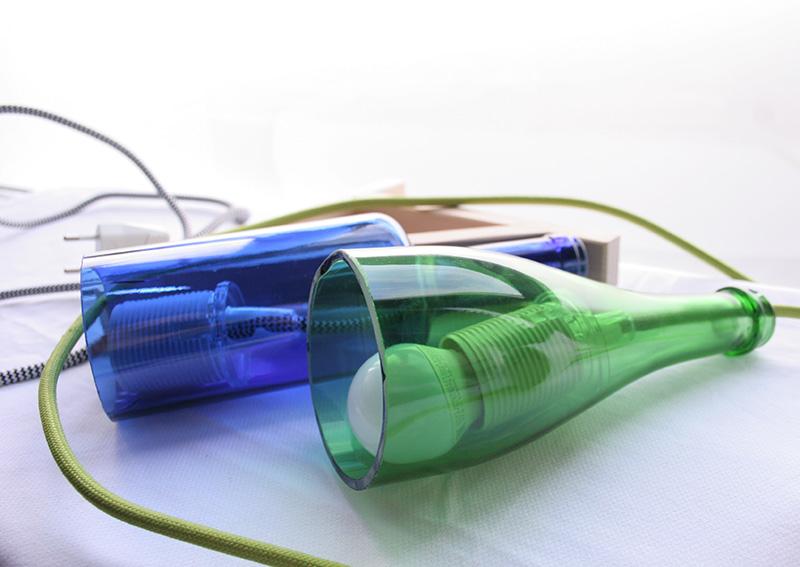 Reciclando con Ikea: Diy lámpara con botella de cristal6