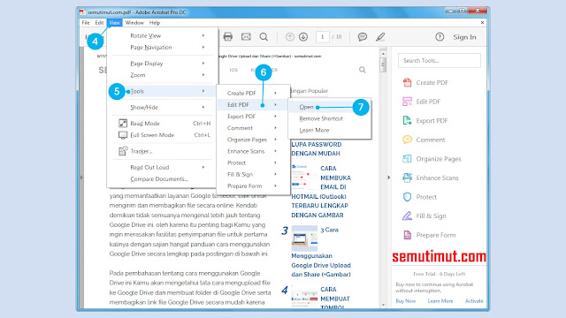 cara edit file pdf di adobe acrobat
