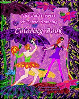 Ballet Sweet and Fairies Dancing Coloring Book