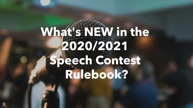 What is NEW in the 2020 2021 Speech Contest Rulebook