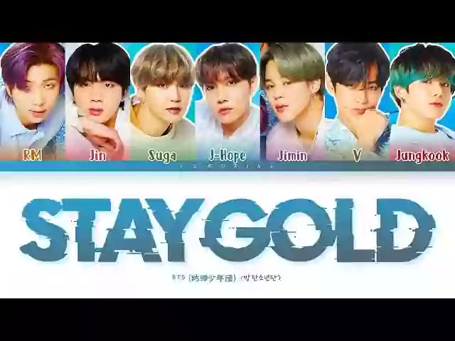 BTS - Stay Gold (Lyrics) - Translate