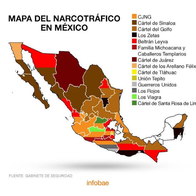Quienes son los meros mero? Así es el mapa del narco 16 organizaciones dominan en México