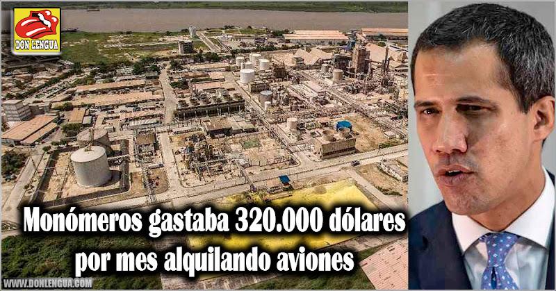 Monómeros gastaba 320.000 dólares por mes alquilando aviones