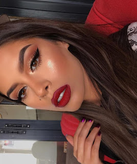 Red Dress Prom Makeup Ideas - red on red