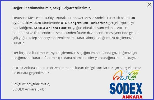 SODEX Ankara 2020 basın açıklaması