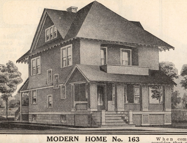 catalog image of modern home no 163 from Sears