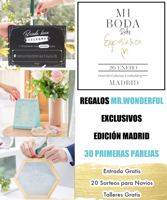 regalos mrwonderful bodas showroom mi boda rocks experience