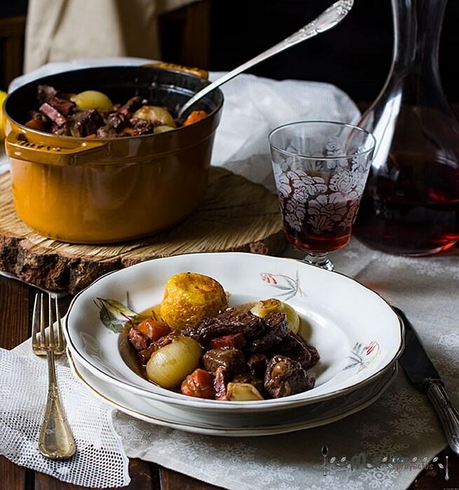 preparación e ingredientes boeuf bourguignon