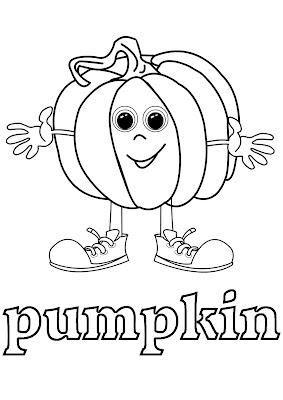 vegetables coloring - pumpkin