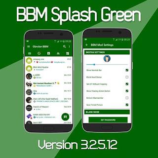 BBM Mod Splash Green V3.2.5.12 Apk