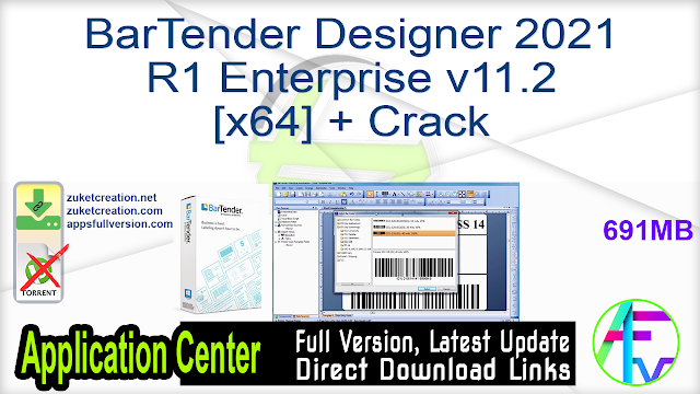 BarTender Designer 2021 R1 Enterprise v11.2 [x64] + Crack