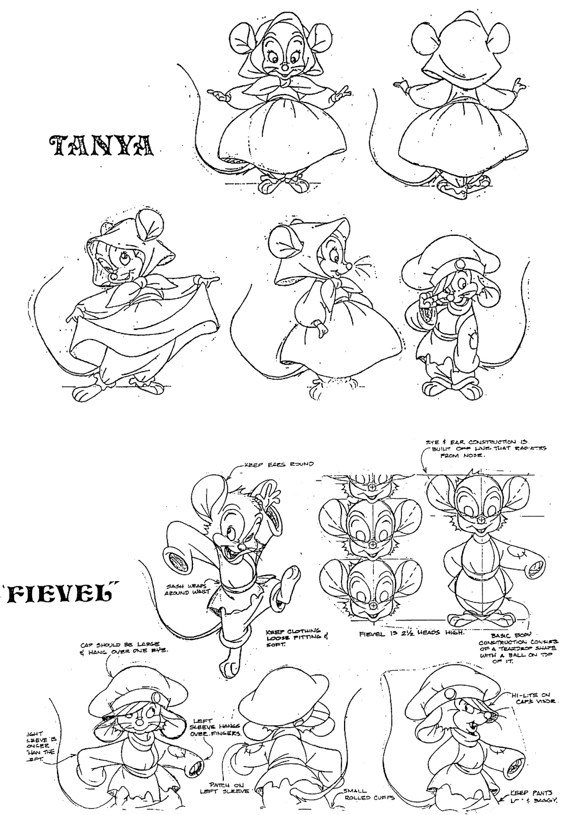 CrE@TiVe Di$nEY F@N$: Some more model sheets of an
