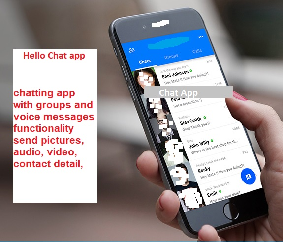 Chatting App with Voice/Video Calls, Voice messages + Groups