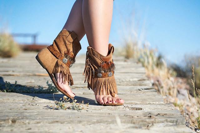 Sandalias hippies camel marrón