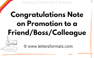Congratulations message on promotion to colleague