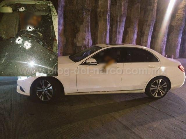 En Zapopan; Jalisco Sicarios ejecutan a hombre a bordo de un Mercedes Benz 2020