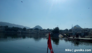 Pushkar lake and landscapes view