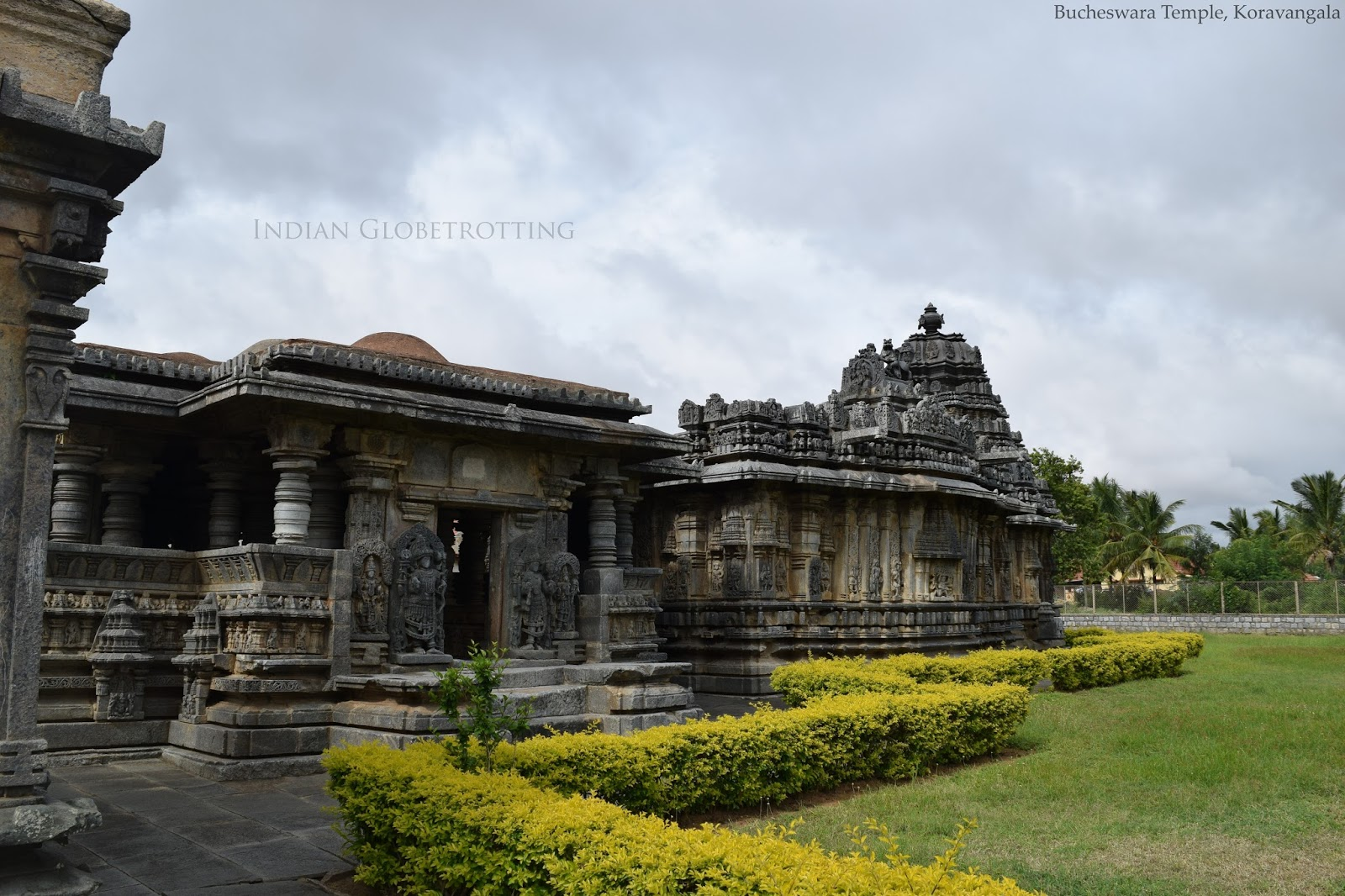 Side view of Bucheswara temple in koravagala in karnataka